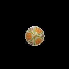 チューリップ紋(オレンジ)(15mm)<br />春うららかに