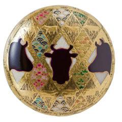 牛並び四季青海波紋 (ぎゅうならびしきせいかいはもん)(50mm)<br />Gyunarabi-siki-seikaiha-mon
