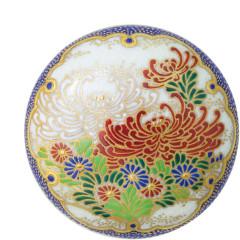 雪輪乱菊<br>薩摩焼の伝統的絵柄